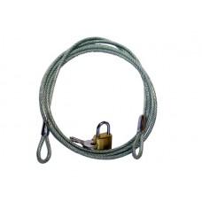 Kabel met slot - lengte 210 cm