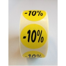 Fluor Sticker Etiket geel 27mm -10% 500/rol