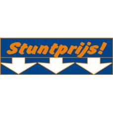 Raambiljet Stuntprijs 24x70cm 2 kleuren