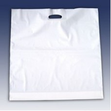 Draagtassen Plastic Wit 37x44cm